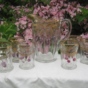 Antique Northwood Plums & Cherries Early American Patterned Glass