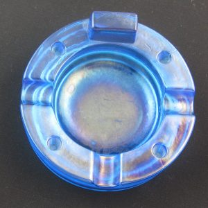 Antique Fenton Celeste Blue #202 Stretch Glass Ashtray