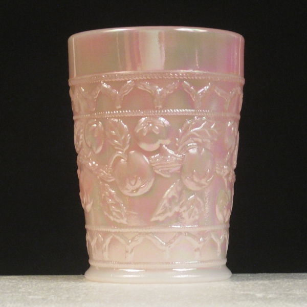 Fenton Rosalene Apple Tree Carnival Glass Tumbler