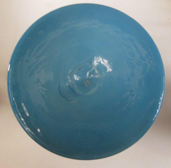 Antique Bristol Blue Handpainted Cherubs Bristol Glass Vase Set