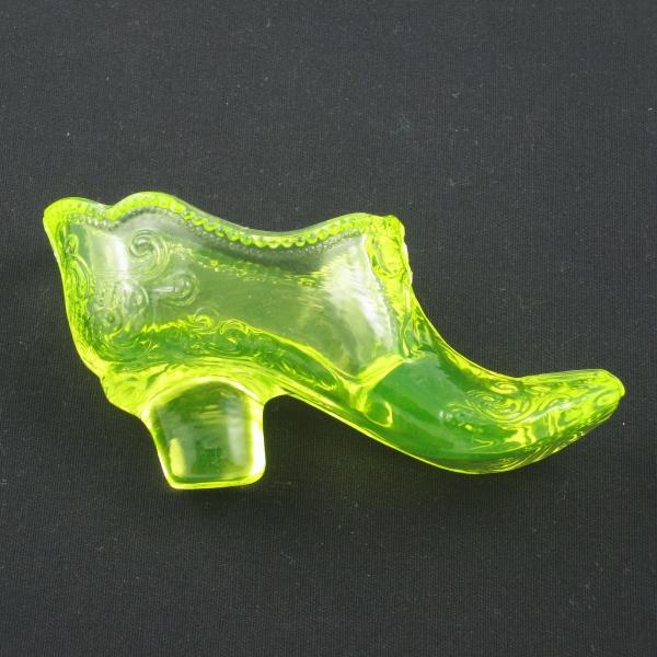 Mosser Vaseline Bow Slipper Vaseline Glass Shoe