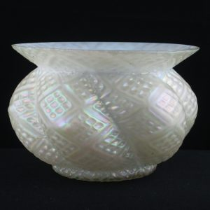 Kralik? White Diamond in Diamond Art Glass Spittoon