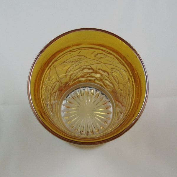 Antique Millersburg Marigold Hanging Cherries Variant Carnival Glass Tumbler