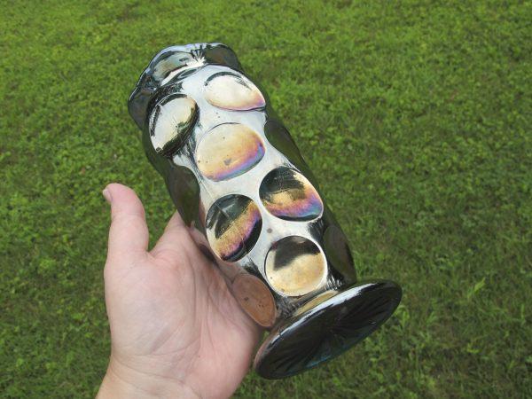 Antique Eda Teal Kulor Mid-size Carnival Glass Vase