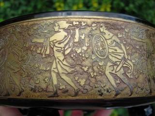 Antique Moser Karlsbad Amethyst Art Glass Large Powder Jar