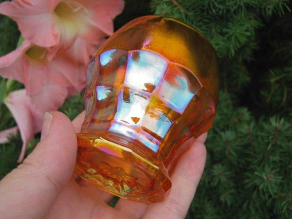 Antique Inwald Marigold Jacobean Ranger Carnival Glass Juice Glass
