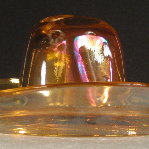 "Antique Unknown maker Marigold ""LBJ"" Cowboy Hat Carnival Glass Ashtray"