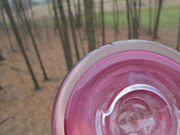 Zellique Studio Pink Iridescent Art Glass Vase