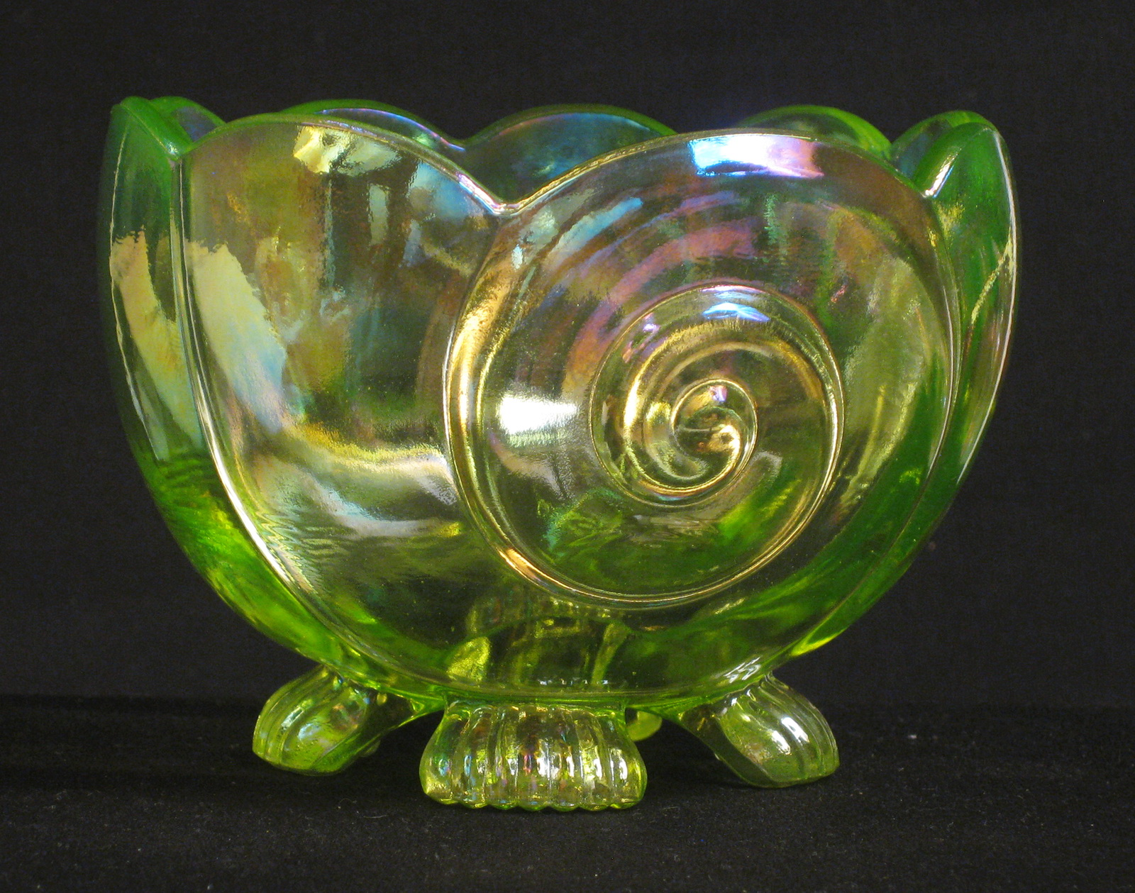 Fenton green good luck carnival glass hatpin holder carnival glass summit art glass vaseline seashell carnival glass small bowl reviewsmspy
