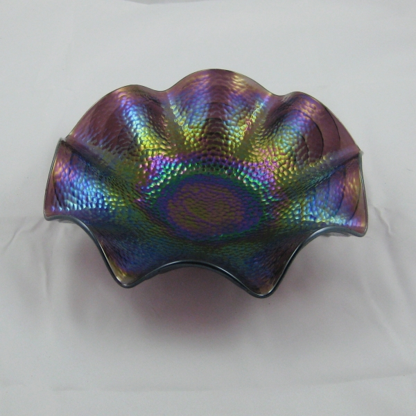Antique Imperial Purple Cobblestones Carnival Glass Bowl