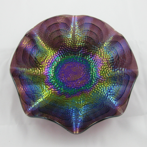 Antique Imperial Purple Cobblestones Carnival Glass Bowl