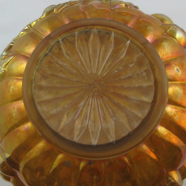 Antique Imperial Marigold Imperial Grape Carnival Glass Decanter w/Stopper