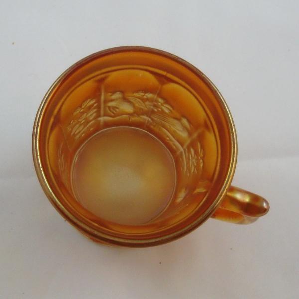 Antique Northwood Marigold Singing Birds Carnival Glass Mug