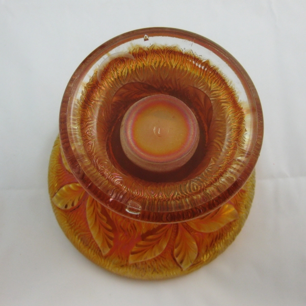 Antique Northwood Marigold Acorn Burrs Carnival Glass Punch Base Only