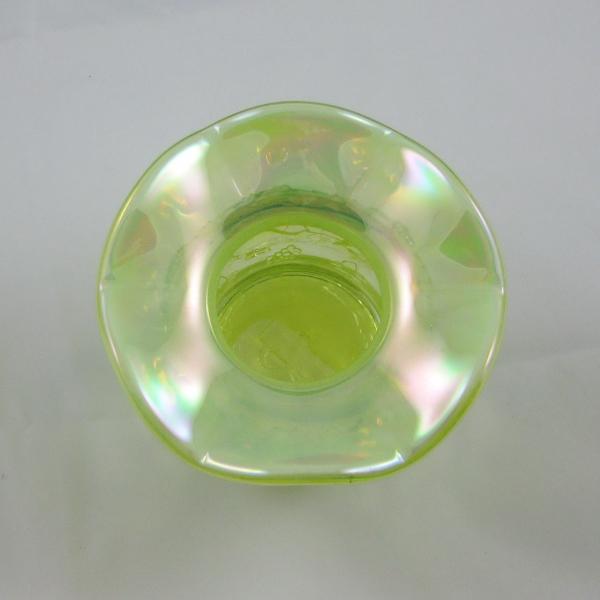 Fenton Vaseline Opal Frolicking Bears Carnival Glass Spittoon