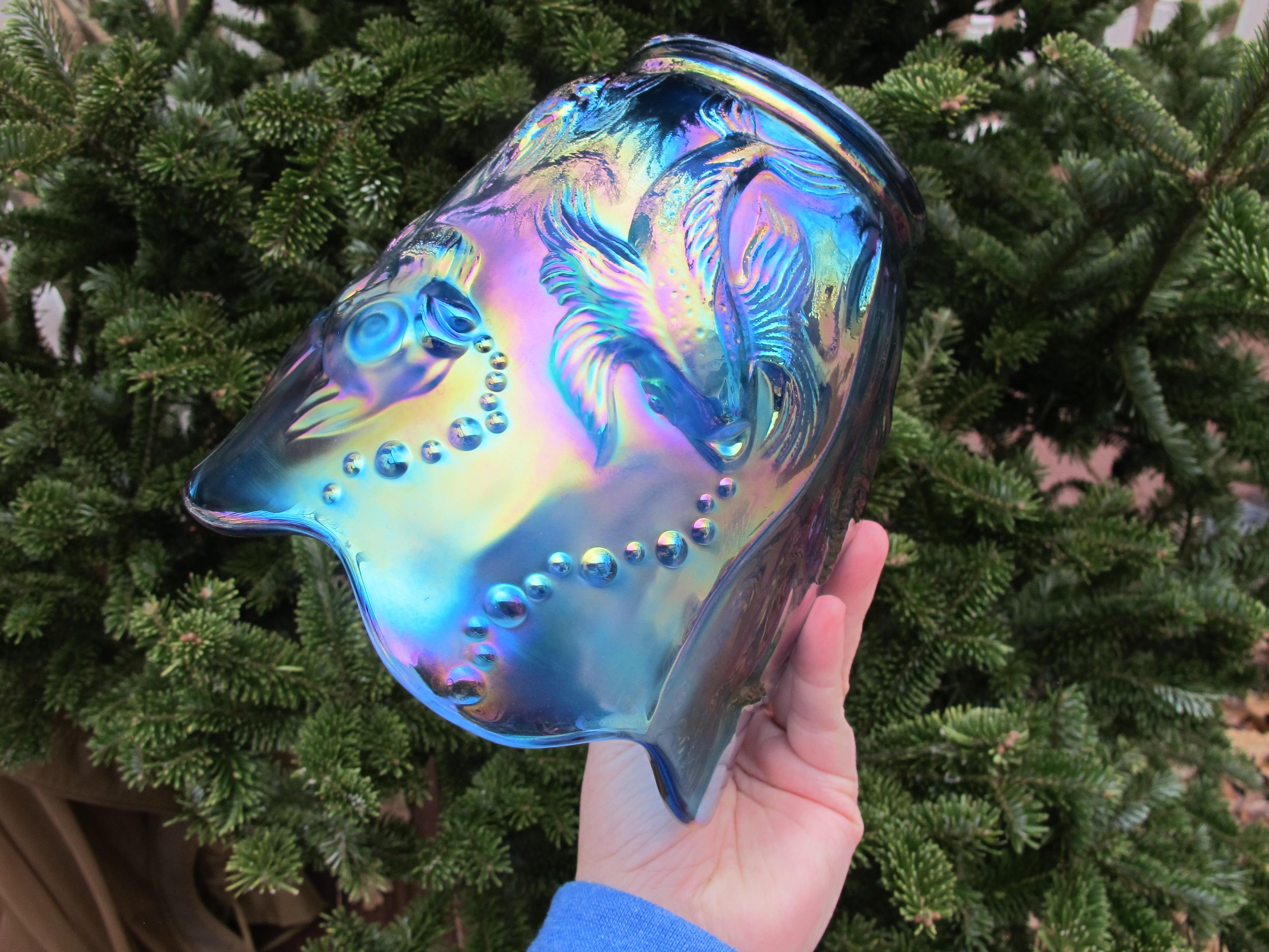 Fenton sapphire blue atlantis carnival glass vase carnival glass fenton sapphire blue atlantis carnival glass vase reviewsmspy