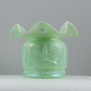 Fenton Seamist Green Seacoast Carnival Glass Spittoon Limited Edition
