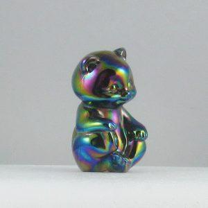 Fenton Blue Carnival Glass BEAR #5151 NK Figurine / Paperweight Animal