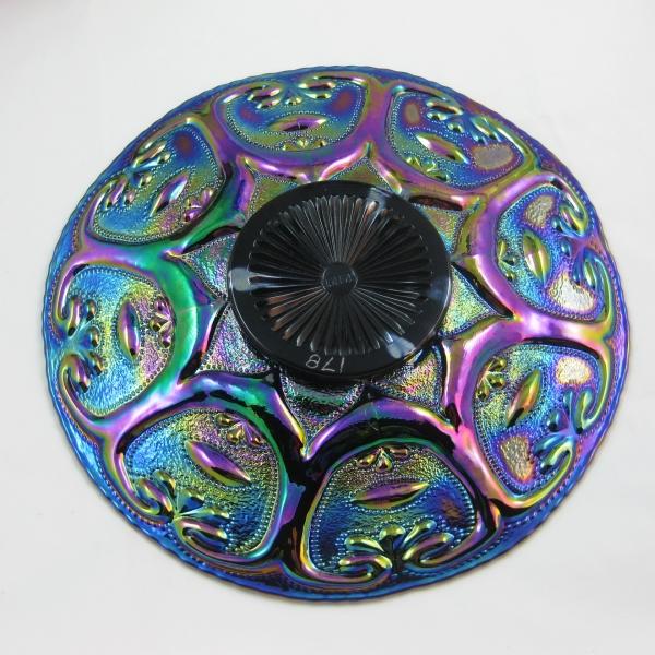 Fenton for MIMI Amethyst Farmyard Carnival Glass Chop Plate