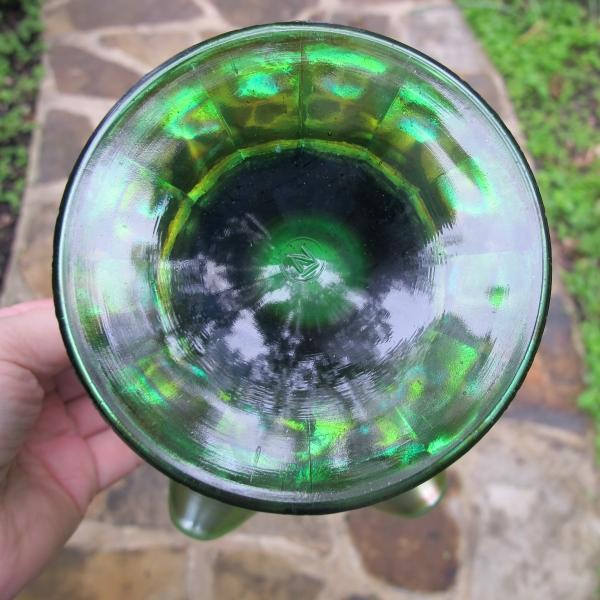 Antique Northwood Green Graceful Carnival Glass Vase