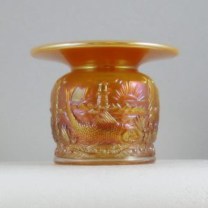 Fenton Peach Opal Seacoast Carnival Glass Spittoon