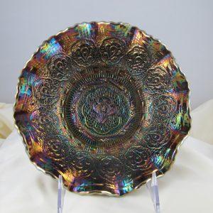 Fenton Amethyst Persian Medallion Carnival Glass Bowl