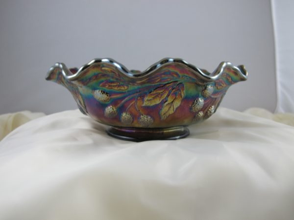 Fenton Amethyst Persian Medallion Carnival Glass Bowl