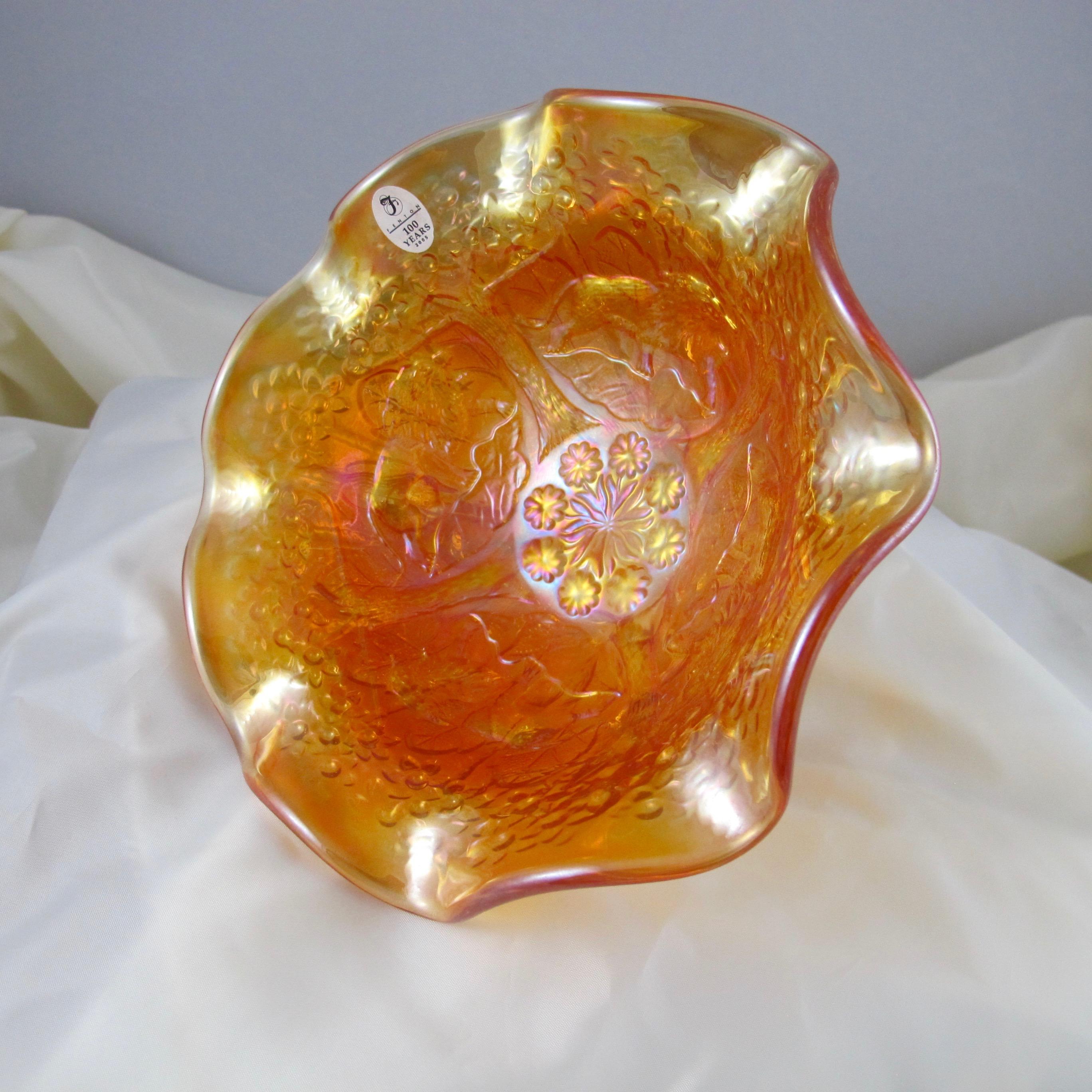 Fenton Marigold Lions Fenton S Flowers Carnival Glass Ruffled Bowl Carnival Glass
