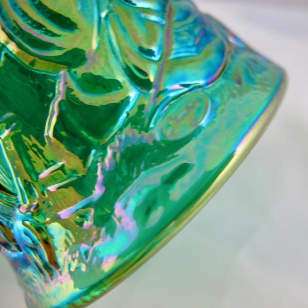 Fenton Emerald Green Nativity Carnival Glass Bell
