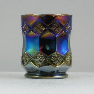 Imperial Amethyst Three In One Carnival Glass Toothpick Holder