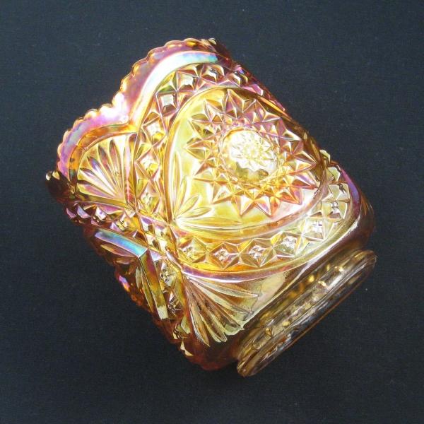 Antique Imperial Marigold Hobstar Carnival Glass Spooner