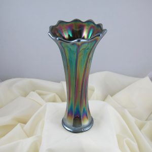 Antique Crown Crystal Purple Australian Gum Tips Carnival Glass Radium Vase