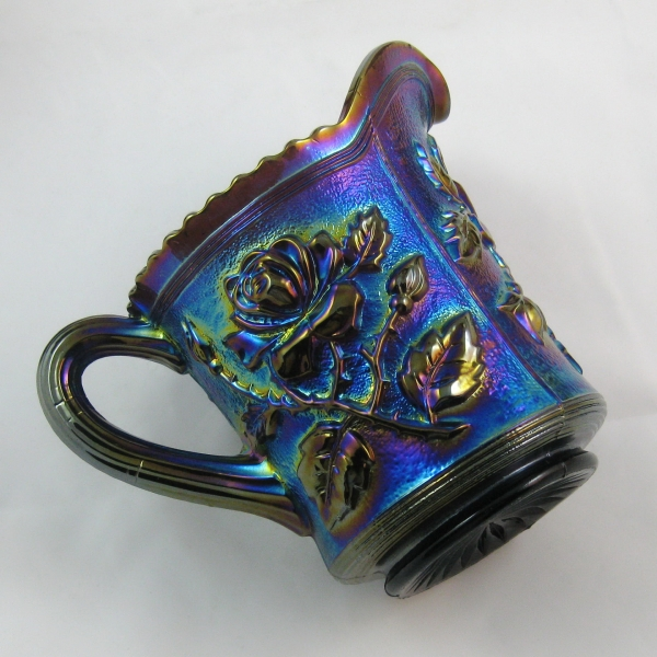 Antique Imperial Purple Lustre Rose Carnival Glass Creamer