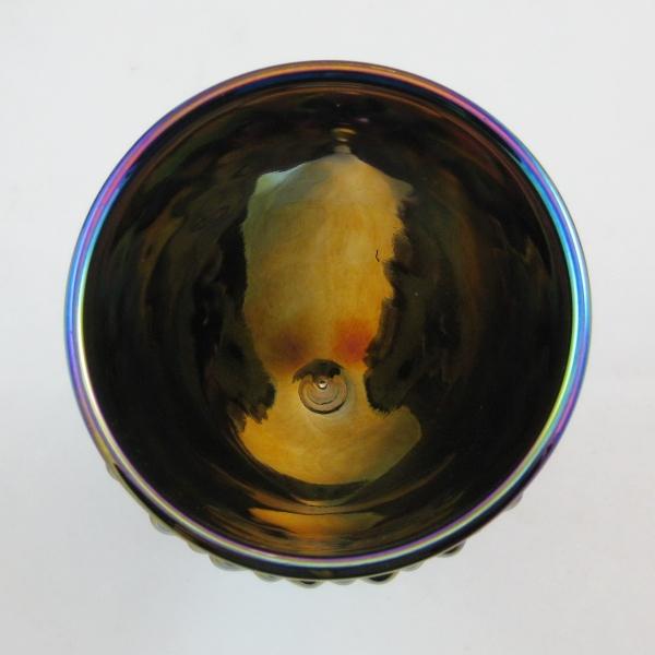Fenton for Levay Purple Hobnail Carnival Glass Goblet