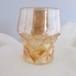 Antique European Forty Niner Marigold Carnival Glass Tumbler