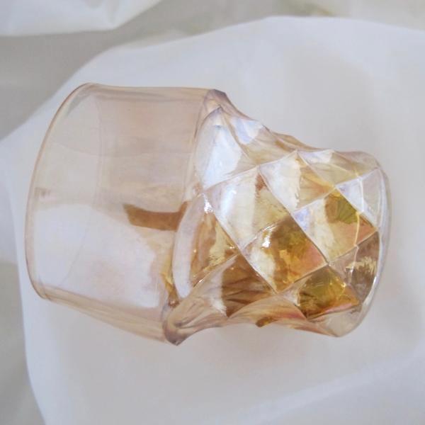 Antique European Forty Niner Marigold Carnival Glass Tumbler