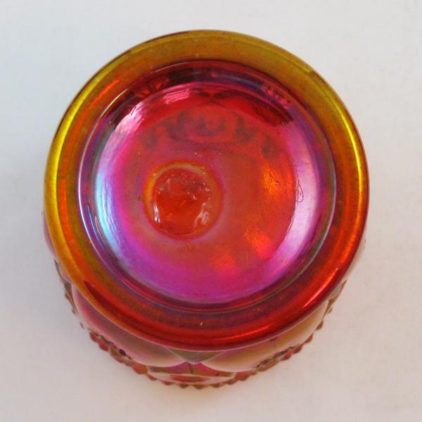 Robert Hansen Red Moon & Star Carnival Glass Toothpick Holder