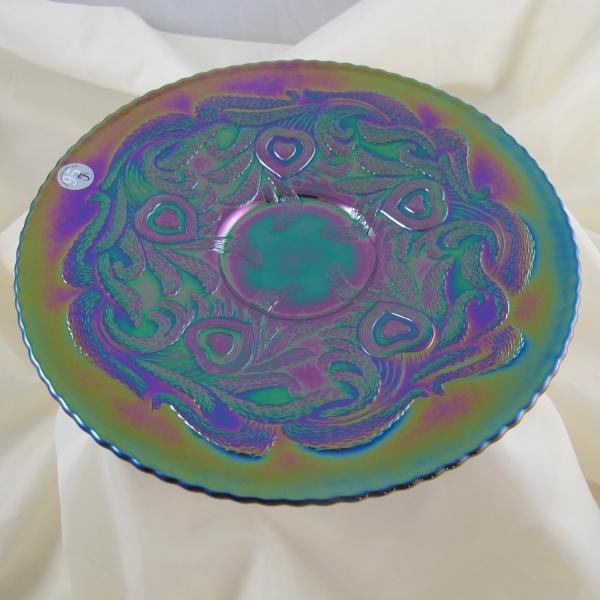Fenton Amethyst Heart & Vine Carnival Glass Plate