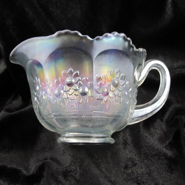 Antique Fenton White Orange Tree Carnival Glass Breakfast Creamer Cream Pitcher