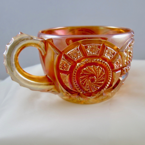 Antique Imperial Marigold Broken Arches Carnival Glass Punch Cup