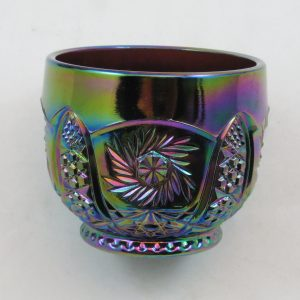 LE Smith Purple Galaxy Carnival Glass Punch Cup