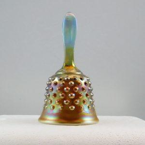 Fenton Aqua Opal Hobnail Carnival Glass Hand Bell