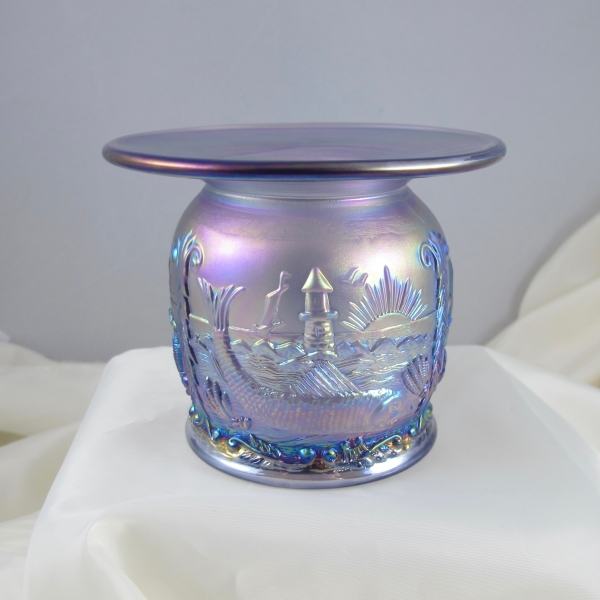Fenton Lavender Frost Seacoast Carnival Glass Spittoon Limited Edition