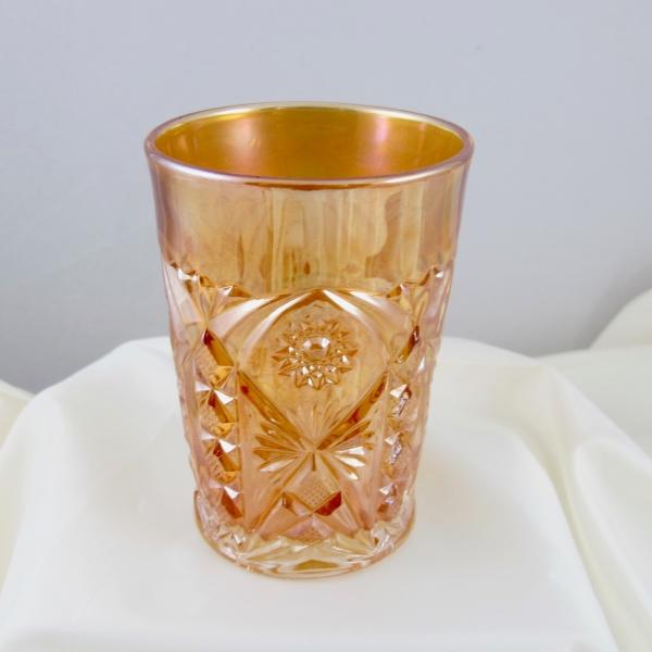 Antique Millersburg Marigold Marilyn Carnival Glass Tumbler