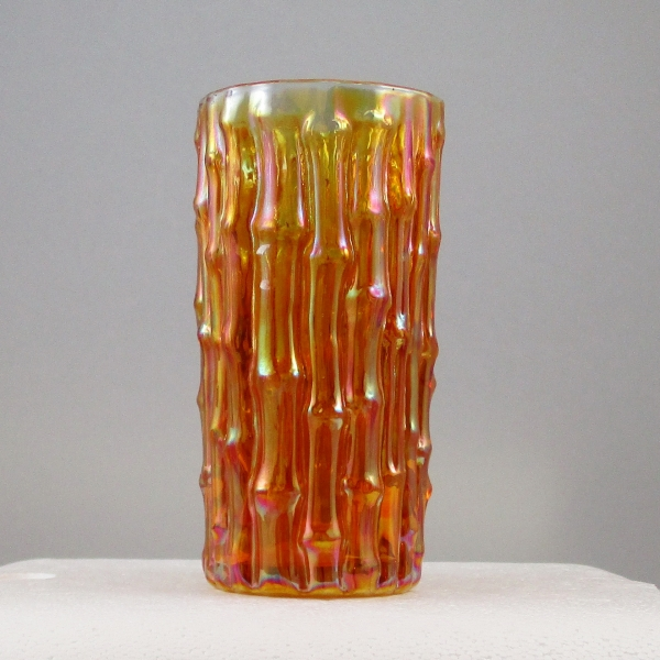 Imperial Marigold Bamboo Carnival Glass Tumbler or Ice Tea