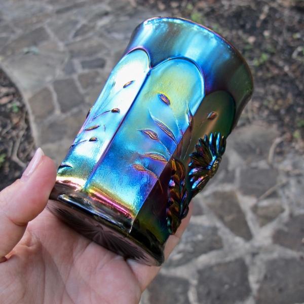 Antique Northwood Amethyst Dandelion Carnival Glass Tumbler