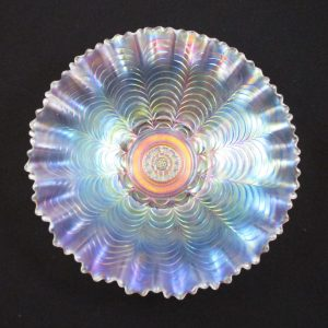 Antique Northwood Nippon Ice White Carnival Glass PCE Bowl