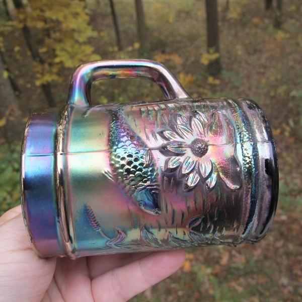Antique Dugan Black Amethyst Fisherman's Mug – Carnival Glass