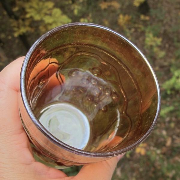 Antique Fenton Blueberry Marigold Carnival Glass Tumbler