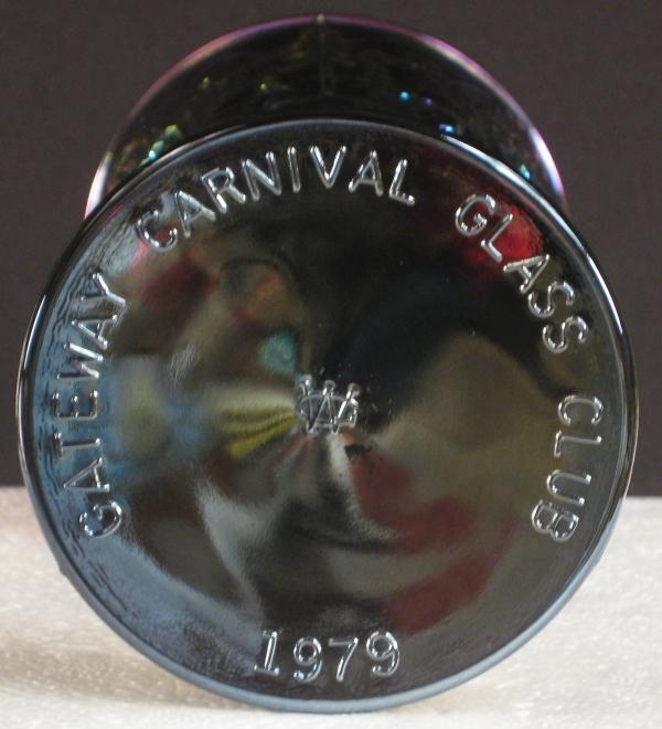 Westmoreland Amethyst Westward Ho Carnival Glass Goblet
